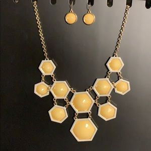 New Octagon chunky necklace with matching earrings